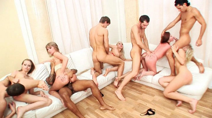 Cream pizza pie Orgy 08
