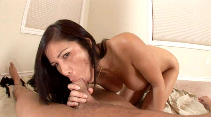 Sexy asian gets some big hard cock in this pov video