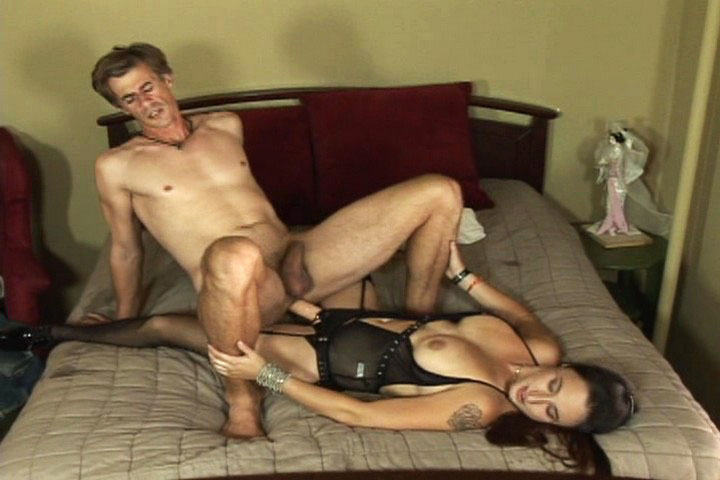 Guy fucked in ass by girl with strap on