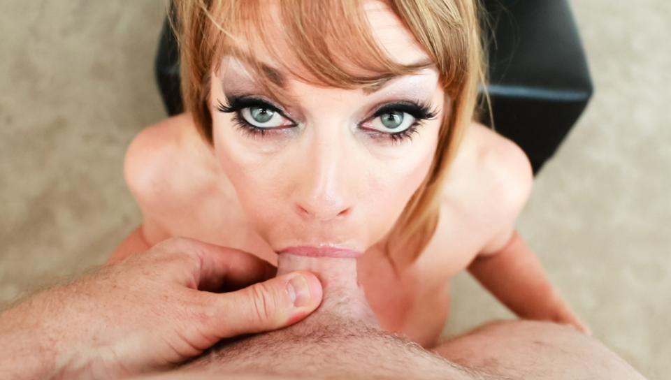 Facial load and intense throat cock shoving for horny MILF