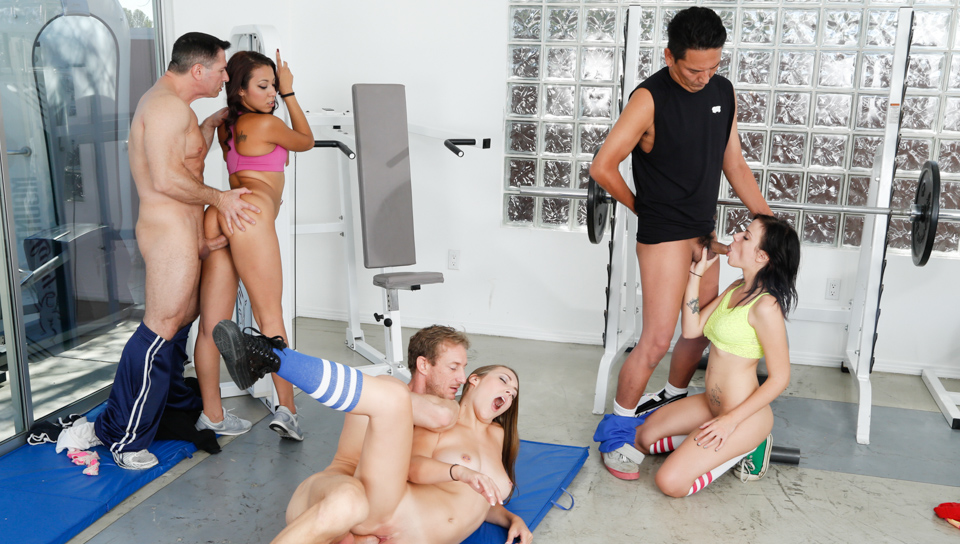 Why not do a swingers orgy in the gym room after training?
