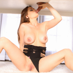 Allison Moore milks Nick then gets her mouth filled with cum