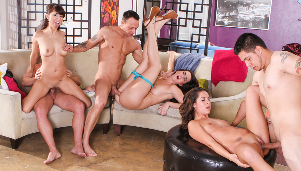 Group of swingers skip the pool and decide to fuck instead.