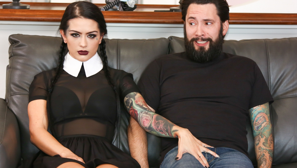Tommy Pistol & Katrina Jade - Very Adult Wednesday Addams -