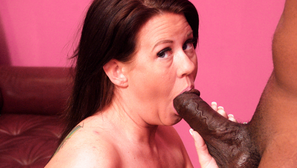 MILF slut with big tits gets impaled by a big black cock