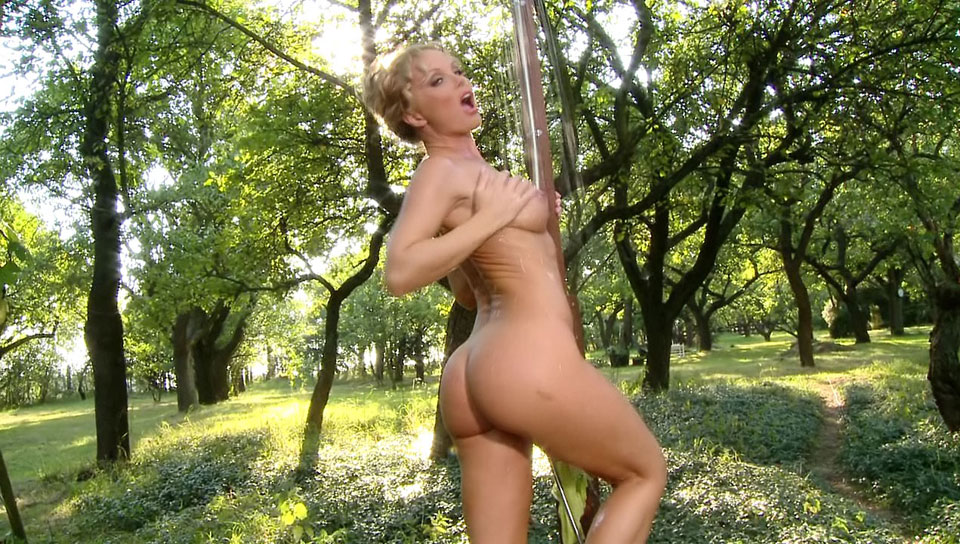 The super fine Silvia Saint takes a Porny outdoor shower