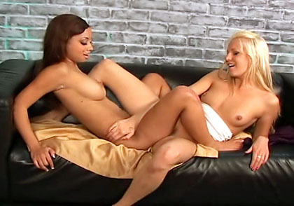 Eden Adams, Angel Cummings lesbian sex video from Lesbian Factor