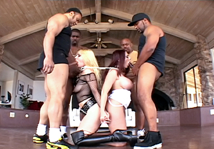 Anita Blue Gives Orders To Her blonde beauty Sophie Dee Slave To Blow 4 Men