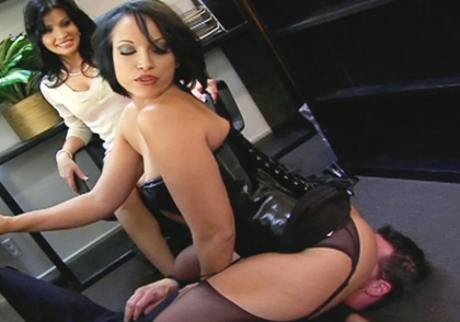 Screenshot 1 from the MeanBitch Productions's Femdom Ass Worship 1