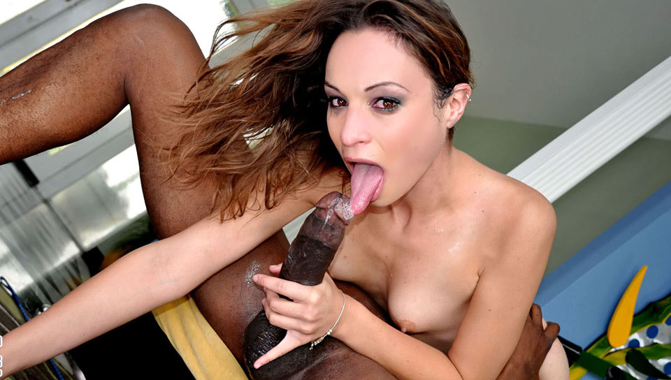 Hot bitch wants a slave but she ends up deepthroating him!