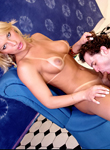 Carla ferraz  how to please a she male 03  nice blonde shemale is toyed in her booty while blow. Charming blonde shemale is toyed in her bottom while cock sucking