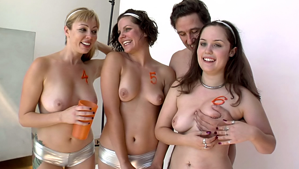 Three hot girls interviewed after cock sucking