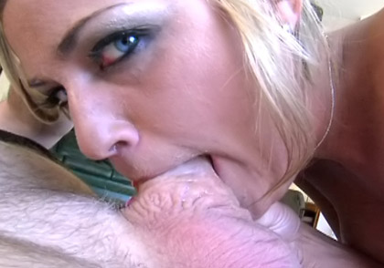 Sexy Blond Whore Enjoys Sucking & Big Cock & Getting Cum