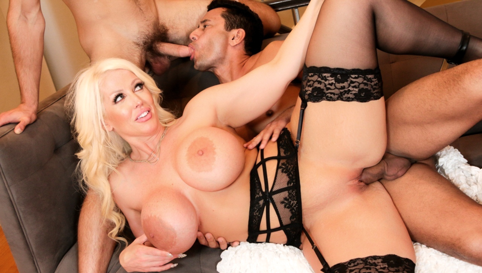 Hot milf Alura shares Dante and Gabriels hard cock.