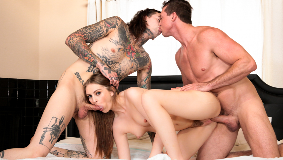 Slutty Maya gets a massage from sexy Pierce and Ruckus.