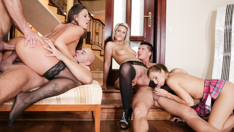 George Uhl & Simony Diamond & Lara - Swingers Orgies #09