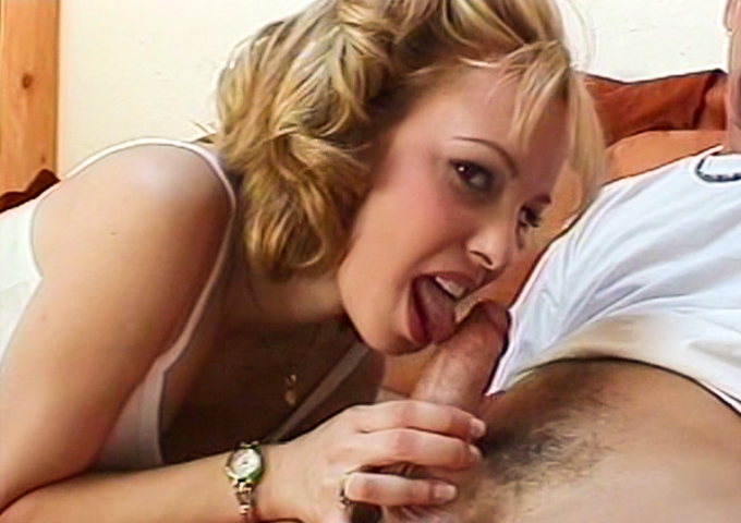 Hot blonde Violet shows off her pro cock sucking skills.