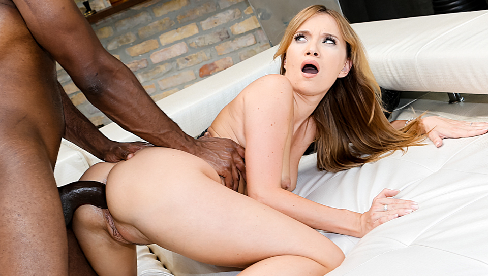 Therapist Angel Piaff offers her rectum  cunt to black cock