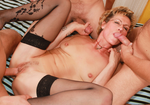 Many horny grannies enjoy a good fuck in their old pussy