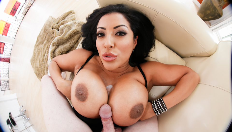 Kiara Mia fucks a big dick using only her gargantuan boobs