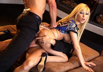 mega hot ass sexy blonde Donna Bell gets both her holes filled in good
