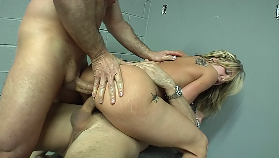 Cute, young slutty blonde does it all, even double anal !