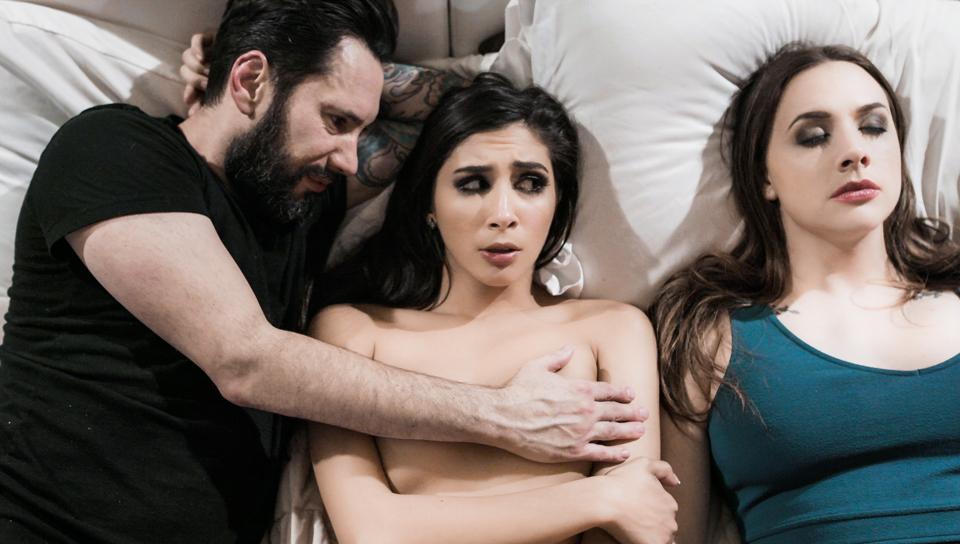 Man needs escort as wife lies near by during sex