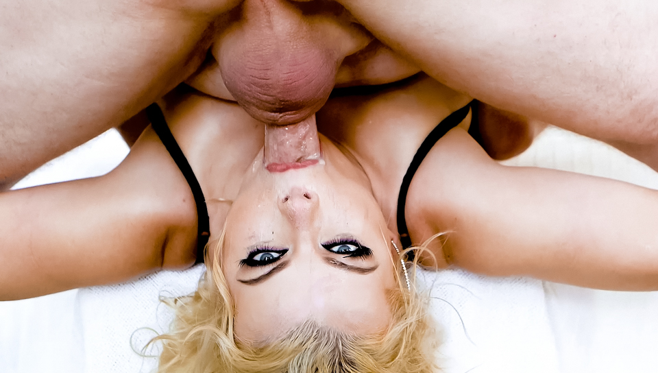 Blowjob big tits blonde