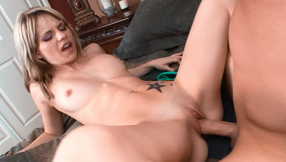 Monica Ashley teases a big cock then gets fucked like a slut