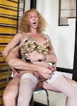 Tom moore  my dad s a ladyboy  exciting bald guy fucks a mature blonde ladyboy in her tight anus. Excited bald guy fucks a mature blonde tranny in her tight anus