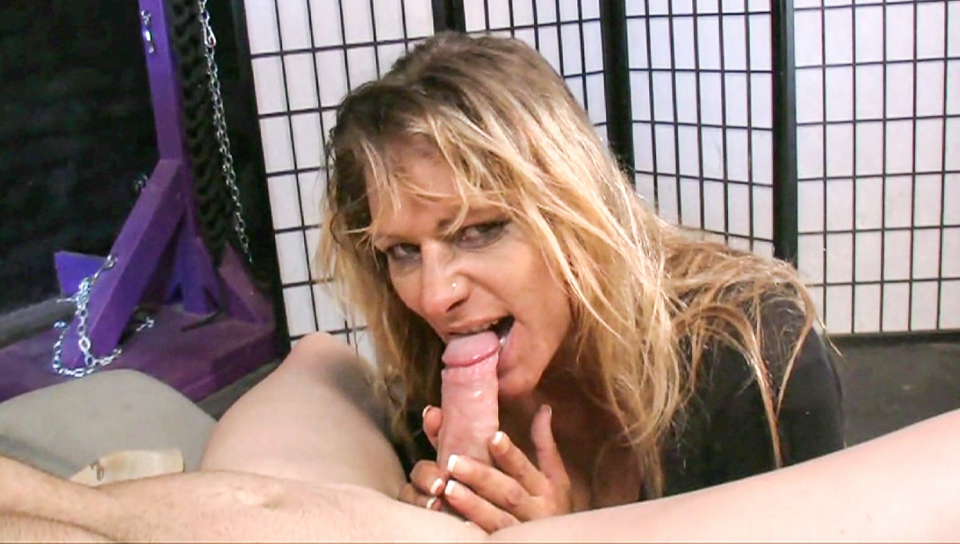 Horny Debi Diamond tease and please some cock with her mouth