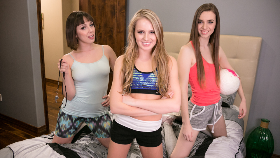 Jenna Sativa & Tali Dova & Scarlett Sage - Showcases: April - 2 Scenes in 1