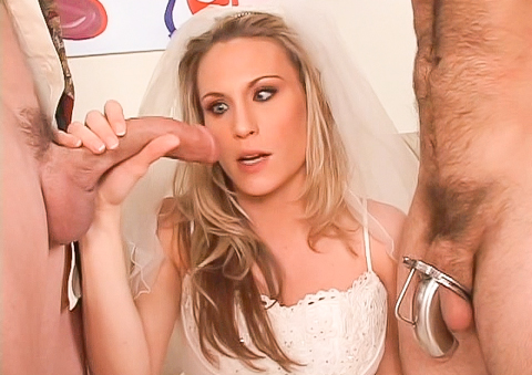 Cuckold groom gets the watches unfaithful wife suck cock !
