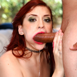 Amber gets her makeup ruined by guzzling huge stiff dick
