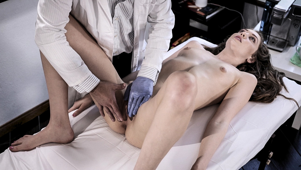 Doctor check up ends up in wild sex with cute Elena Kosha