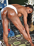 Natalia coxxx  black tranny idol  the auditions  pleasant dark chocolate tranny showing her big cruel tool. Elegant Dark Chocolate ladyboy Showing Her big hard penish