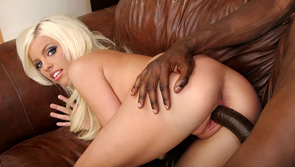 Hot Blonde Girl Has To Suck On This Dude's Huge Black Cock!
