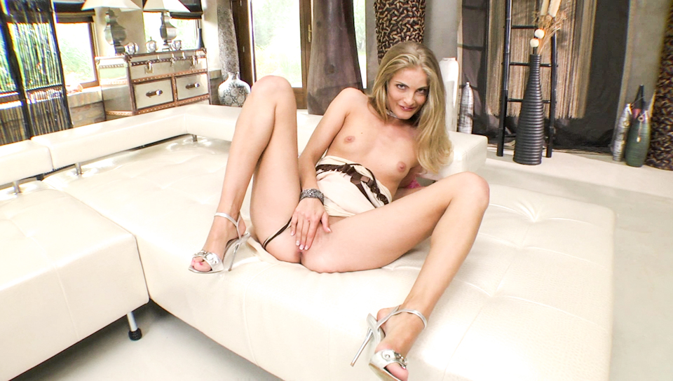Sexy Cayenne Klein teases the camera while pleasing pussy.