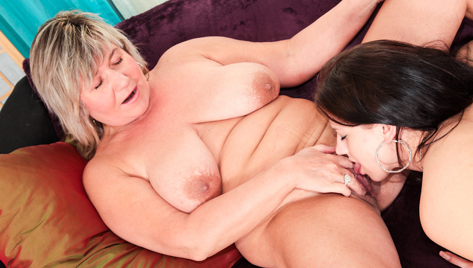Old Milf still enjoying licking pussies and playing w/ toys!