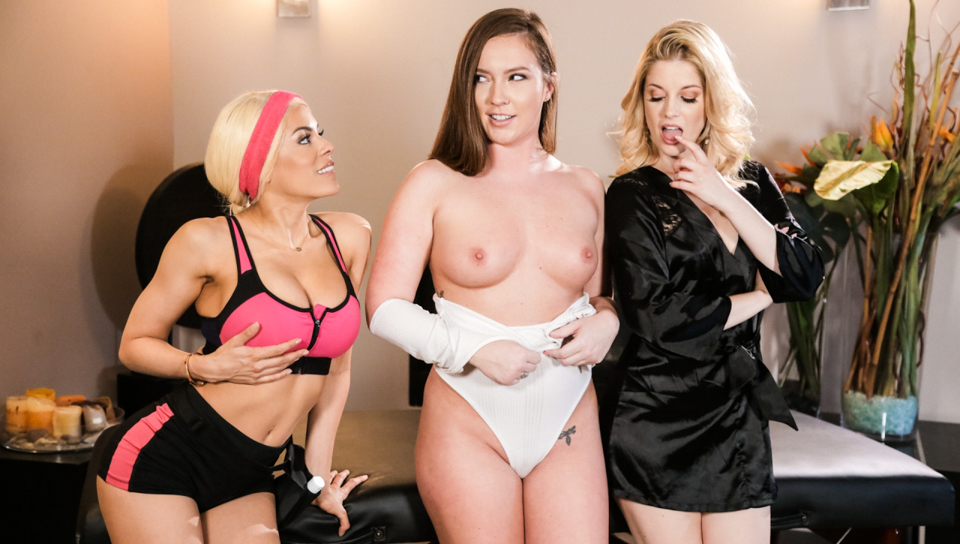 Maddy O'Reilly & Luna Star & Charlotte Stokely -