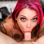 Anna Bell makes that cock go all the way down to the bottom