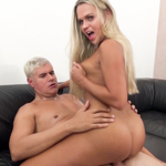 Barra pulls her panties down today for a Porno Dan romp