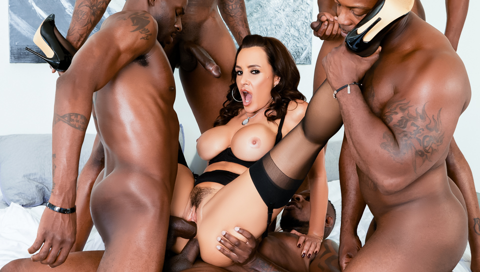 's Interracial DP BBC Gangbang - Jon Jon & Lisa Ann & Jason Brown