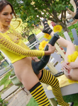 Bonuspussy acrobats. Slutty bee gets pounded by voluminous black
