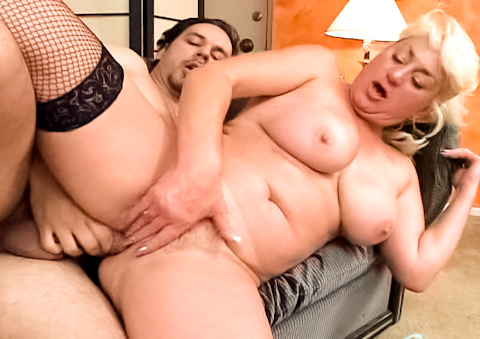 Nasty mature woman gets lucky when a big dick fucks her hard