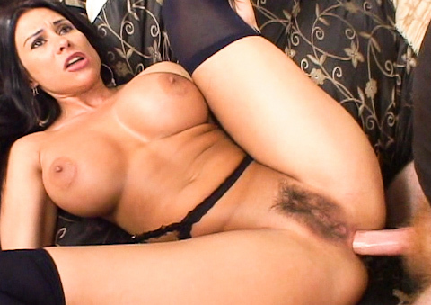 MILF with big tits gets her ass stretched and creampied