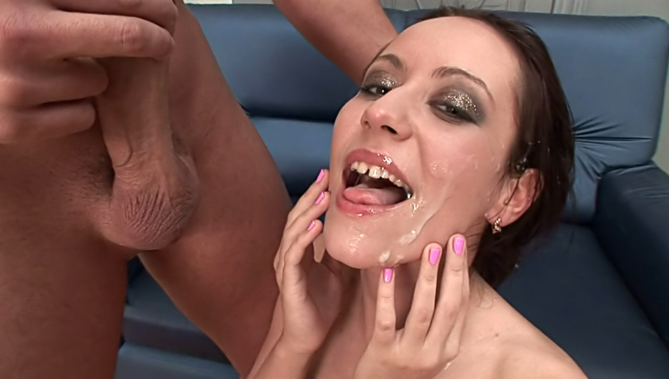 Super beautiful girls getting tons of cum on their faces !