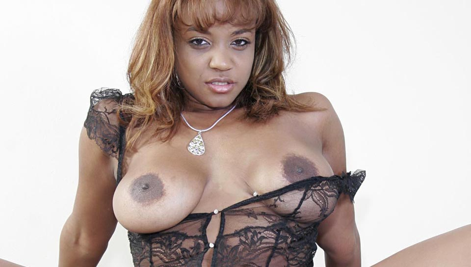 Busty ebony slut sucks like a pro then needs a cock in her!