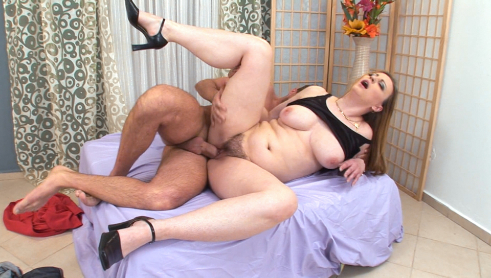 2 hot hairy milfs fucked by band of men 8