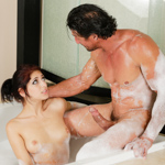 Scumbag gets a hot massage from his stepdaughter